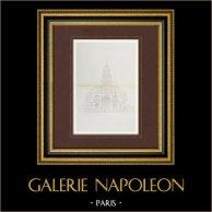 Dessin d'Architecte - Eglise Sainte Marie projetée pour la place d'Europe à Paris - 8ème Arrondissement de Paris (Magne Architecte)