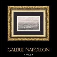 Bataille de Paris en 1814 - Napoléon Bonaparte - Campagne de France (Rouargue) | Gravure originale en taille-douce sur acier dessinée par Yung, gravée par Rouargue. 1840