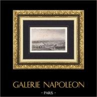 Siège de Gaète en 1806 - Italie - Guerres napoléoniennes - 3ème Coalition - Masséna (Lalaisse) | Gravure originale en taille-douce sur acier dessinée par Yung, gravée par Lalaisse. 1840