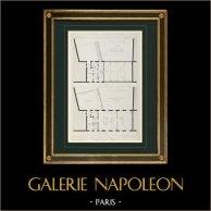 Dibujo de Arquitecto - Asilo Portalis - Paris (E. Train)