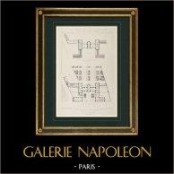Dibujo de Arquitecto - Hospicio - Escuela - Montfort-le-Gesnois - Sarthe (F. Verité)