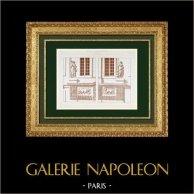 Dessin d'Architecte - Hôtel Carnavalet - 3ème Arrondissement de Paris - Façade de Jean Goujon - Les quatre saisons (France)