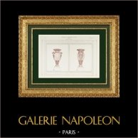 Disegno di Architetto - Vasi - Opéra Garnier - Palais Garnier (Paul Avisse)