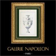 Disegno di Architetto - Vaso - Opéra Garnier - Palais Garnier - Progetto (M. Devienne)