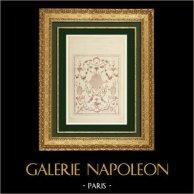 Dessin d'Architecte - Panneau décoratif - Peinture française - 19ème Siècle (Ranson)