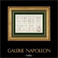 Architect's Drawing - Sketch - Colonne Vendôme - Paris - Reconstruction (Alfred Normand)