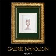 Disegno di Architetto - Vaso - Opéra Garnier - Palais Garnier - Progetto (Paul Langlois)