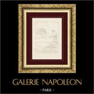 Divine Comédie - Dante - Le Paradis - Chapitre III - Les Bienheureux   Gravure sur cuivre originale dessinée par Giacomelli, gravée par Giacomelli. 1813