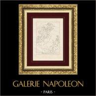 Divine Comédie - Dante - Le Paradis - Chapitre X - Le Soleil - Sagesse - Bienheureux | Gravure sur cuivre originale dessinée par Giacomelli, gravée par Giacomelli. 1813
