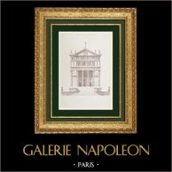 Architect's Drawing - Protestant Temple (M. Galeron)