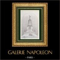 Bouwtekening - een Catafalque (M. Gautier)