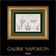 Architect's Drawing - Funerary Chapel -  Montparnasse Cemetery - Paris (Paul Wallon)