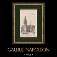 Caudebec-en-Caux church - Seine-Maritime - Haute-Normandie (France) | Original print. Anonymous. 1900