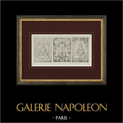 Tapet Kartongs (Claude Gillot) | Original heliogravyr efter Claude Gillot. 1923