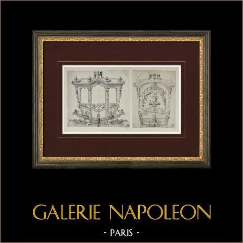 Carrosse de gala (Picart) | Héliogravure originale d'après Picart. 1923