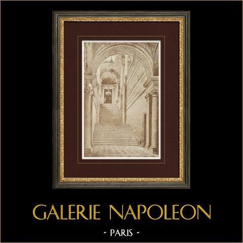 Tuileries Paleis - Parijs - Grote Trap (Tekening Eugène Viollet-le-duc) |