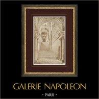 Tuilerien Palasts - Paris - Treppe (Zeichnung Eugène Viollet-le-Duc)
