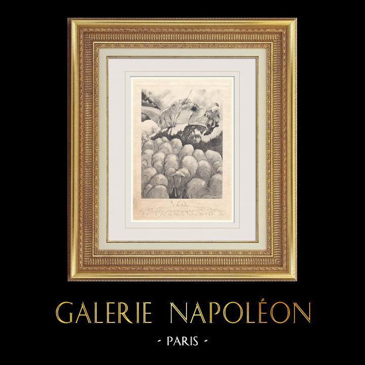 Gravures Anciennes & Dessins | Gargantua et Pantagruel - Rabelais - Mouton | Photogravure | 1936