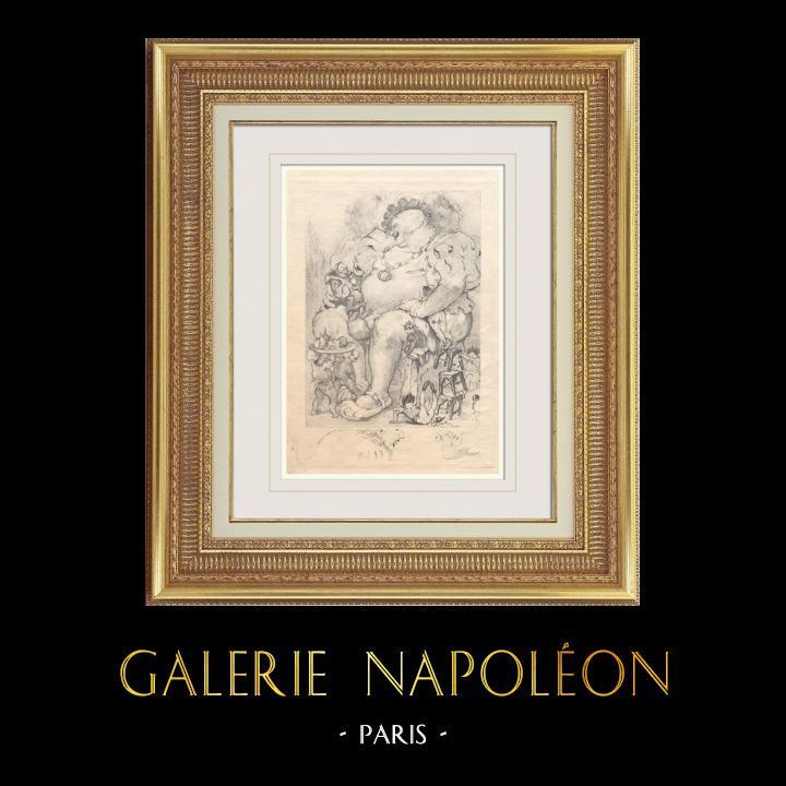 Gravures Anciennes & Dessins | Gargantua et Pantagruel - Rabelais | Photogravure | 1936