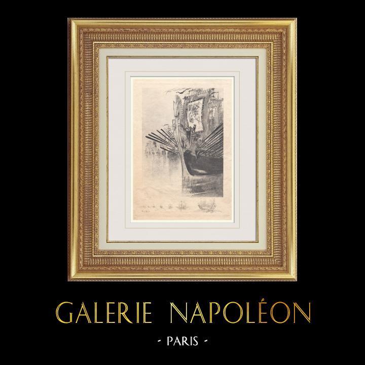 Gravures Anciennes & Dessins | Gargantua et Pantagruel - Rabelais - Bateau | Photogravure | 1936