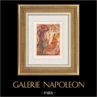 Erotisk Gravyr - Gargantua och Pantagruel (François Rabelais)