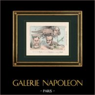 Politisk cartooning - Musée des Empaillés - Magnan, Walewski, Billault