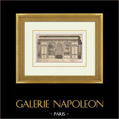 Architecture - Décoration d'un Salon | Héliotypie originale. Anonyme. 1920