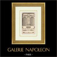 Architettura - Decorazione - Hôtel de Villars - VII Arrondissement di Parigi | Eliotipia originale secondo una stampa disegnata da Blondel, incisa da Charpentier. 1920