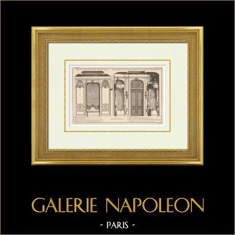 Architecture - Décoration - Salle de Bains - Baignoire | Héliotypie originale. Anonyme. 1920