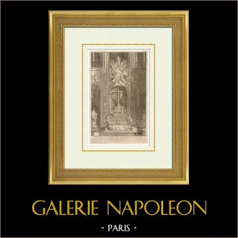 Meubles Liturgiques - Maître-Autel - Cathédrale Notre Dame de Paris - 4ème Arrondissement de Paris | Héliotypie originale d'après une gravure d'après Robert de Cotte. 1920