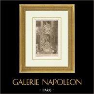 Meubles Liturgiques - Maître-Autel - Cathédrale Notre Dame de Paris - 4ème Arrondissement de Paris   Héliotypie originale d'après une gravure d'après Robert de Cotte. 1920