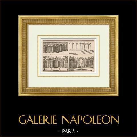Rysunek Architektoniczno-Budowlany - Ogrody - Dekoracja - Palisada - Ogrodzenie - Marly-le-roi - Île-de-france |