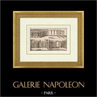 Dibujo de Arquitecto - Jardines - Decoración - Alambrada - Marly-le-Roi - Isla de Francia