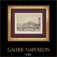 Vista de París - Palacio Brongniart - Palacio de la Bolsa de París - Palais Brongniart