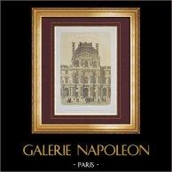 View of Paris - The Palais du Louvre - Place Napoleon III - Pavillon Denon