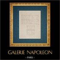 Dessin d'Architecte - Italie - Rome moderne - Palais Baldassini ensuite Palais Palma