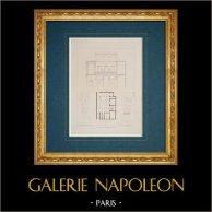 Architect's Drawing - Italy - Modern Rome - Palace - Palazzo del Bufalo