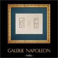 Architektenzeichnung - Italien - Modernes Rom - Palast - Palazzo Patrizi - Palazzo Tomati