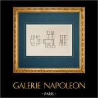 Architect's Drawing - Italy - Modern Rome - Plan - Palace - Cardelli - Trulli - Boccapaduli