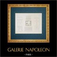 Architect's Drawing - Italy - Modern Rome - Palazzo Alberini - Palazzo Vicolo dell'Oro