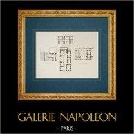 Dibujo de Arquitecto - Italia - Roma moderna - Palazzo Bonaparte - Palazzo Strozzi - Palazzo Gentili