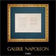 Architektenzeichnung - Italien - Modernes Rom - Palazzo Nari - Piazza delle Coppelle - Palast Piazza Navona