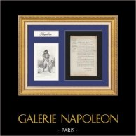 Ministry of War - Napoleon - 1807 - Pension granted to the widow of a dead officer in Saint-Domingue (Haiti)   Historical Document on watermaked laid paper of 1807 and Portrait of the Marshal Ney