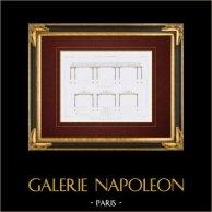 Architektenzeichnung - Großmarkthalle aus Eisen - Reunion -  französisch Übersee-Departement (M. Paliard) | Original stahlstich gezeichnet von Garraud, gestochen von Mortet. 1861