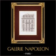 Architektenzeichnung - Hotel - Rond-point des Champs-Élysées - Paris (Victor Lenoir)