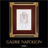 Ritning av Arkitekt - Kyrka - Saint-Jean-Baptiste de Belleville - Biktstol - Paris (M. Lassus)