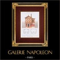 Architektenzeichnung - Restaurant - Le Pré Catelan - Photographiegebäude - Paris - Bois de Boulogne (Frankreich)