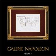 Architektenzeichnung - Haus - Gebäude - Paris - Boulevard du Prince Eugène (M. Brouilhony)