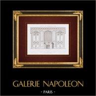 Disegno di Architetto - Casa - Edificio - Avenue des Champs-Elysées - Parigi (Victor Marie)