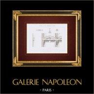 Dibujo de Arquitecto - Casa - Rue Duperré - Paris (M. Sibert)